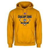 Gold Fleece Hoodie-2017 SoCon Regular Season Softball Champions - Diamond