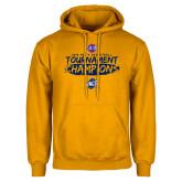 Gold Fleece Hoodie-2018 Mens Basketball Champions - Brush