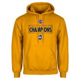 Gold Fleece Hoodie-2018 Mens Basketball Champions - Box