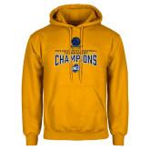 Gold Fleece Hoodie-2018 Mens Basketball Champions - Net w/ Basketball
