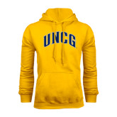 Gold Fleece Hood-Arched UNCG
