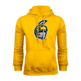 Gold Fleece Hoodie-Spartan Head