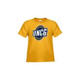 Toddler Gold T Shirt-UNCG Shield