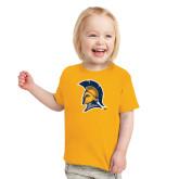 Toddler Gold T Shirt-Spartan Logo