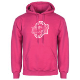 Fuchsia Fleece Hood-UNCG Shield