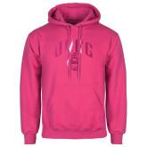 Fuchsia Fleece Hood-Arched UNCG w/Spartan Foil