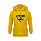 Youth Gold Fleece Hoodie-Baseball SoCon Champions 2017 - Diamond