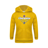 Youth Gold Fleece Hoodie-Baseball SoCon Champions 2017 - Banner w/ Plate