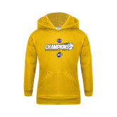 Youth Gold Fleece Hoodie-Baseball SoCon Champions 2017 - Ball in Motion