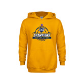 Youth Gold Fleece Hoodie-2017 SoCon Regular Season Basketball Champions - Banner