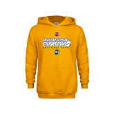 Youth Gold Fleece Hoodie-2017 SoCon Regular Season Softball Champions - Ball