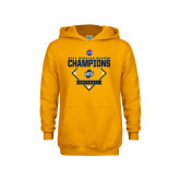 Youth Gold Fleece Hood-2017 SoCon Regular Season Softball Champions - Diamond
