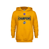 Youth Gold Fleece Hoodie-2018 Mens Basketball Champions - Box