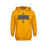 Youth Gold Fleece Hoodie-2018 Mens Basketball Champions - Stacked