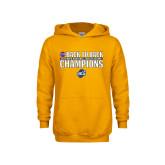 Youth Gold Fleece Hoodie-2018 Back to Back Regular Season Champions