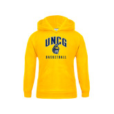 Youth Gold Fleece Hood-Basketball