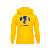 Youth Gold Fleece Hood-Volleyball