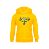 Youth Gold Fleece Hood-Just Kick It
