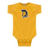 Gold Infant Onesie-Spartan Logo