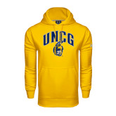 Under Armour Gold Performance Sweats Team Hoodie-Arched UNCG w/Spartan
