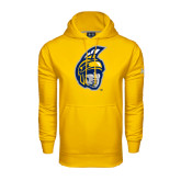 Under Armour Gold Performance Sweats Team Hood-Spartan Head