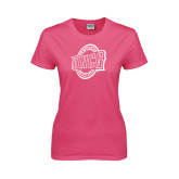 Ladies Fuchsia T Shirt-UNCG Shield