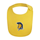 Yellow Baby Bib-Spartan Logo