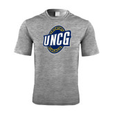 Performance Grey Heather Contender Tee-UNCG Shield