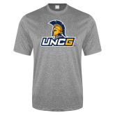Performance Grey Heather Contender Tee-Lock Up