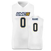 Replica White Adult Basketball Jersey-UNCG Wordmark
