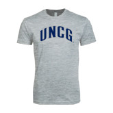 Next Level SoftStyle Heather Grey T Shirt-Arched UNCG