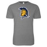 Next Level SoftStyle Heather Grey T Shirt-Spartan Logo