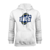 White Fleece Hood-UNCG Shield