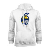 White Fleece Hoodie-Spartan Head