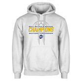 White Fleece Hoodie-2017 Womens Soccer Champions
