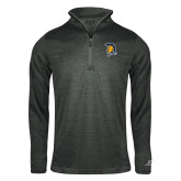 Russell Charcoal Heather 1/4 Zip-Spartan Logo