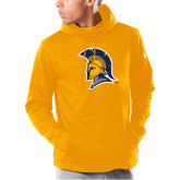 Under Armour Gold Armour Fleece Hoodie-Spartan Logo