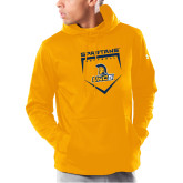 Under Armour Gold Armour Fleece Hoodie-Softball Abstract Plate