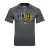 Under Armour Carbon Heather Tech Tee-Arched UNCG w/Spartan