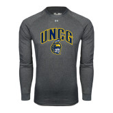 Under Armour Carbon Heather Long Sleeve Tech Tee-Arched UNCG w/Spartan