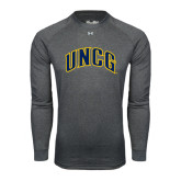 Under Armour Carbon Heather Long Sleeve Tech Tee-Arched UNCG
