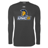 Under Armour Carbon Heather Long Sleeve Tech Tee-Lock Up
