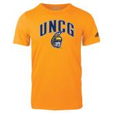 Adidas Gold Logo T Shirt-Arched UNCG w/Spartan