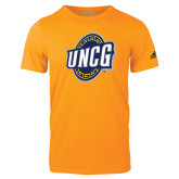 Adidas Gold Logo T Shirt-UNCG Shield