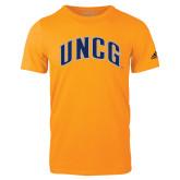 Adidas Gold Logo T Shirt-Arched UNCG