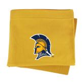 Gold Sweatshirt Blanket-Spartan Logo