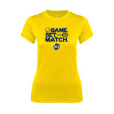 Ladies Syntrel Performance Gold Tee-Game Set Match - Tennis Design