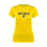 Ladies Syntrel Performance Gold Tee-Lets Go G