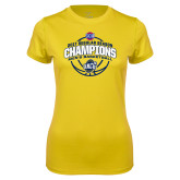 Ladies Syntrel Performance Gold Tee-2017 SoCon Regular Season Basketball Champions - Arched