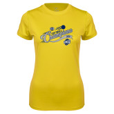 Ladies Syntrel Performance Gold Tee-2018 Softball Champions
